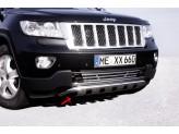 Передняя защита для Jeep Grand Cherokee с поперечными пластинами, полир. нерж. сталь