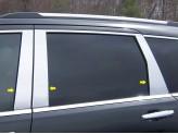 Хромированные накладки на дверные стойки Jeep Grand Cherokee 2011-2014 г