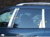 Хромированные накладки на дверные стойки Nissan Pathfinder