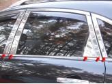 Хромированные накладки на дверные стойки Infiniti Q50