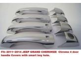 Хромированные накладки на дверные ручки Jeep Grand Cherokee