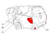 Задние стекло # 1.2 для кунга RH2 (Spezial, Standard, Profi) для мод. до 2014 г , короткая база, изображение 2