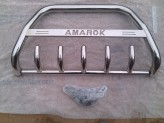 """Передняя защита 60 мм с логотипом """"AMAROK"""",полир. нерж. сталь"""