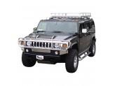 Передняя защита для Hummer H2 с защитой фар полир. нерж. сталь