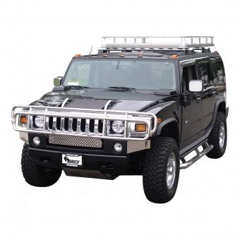 Передняя защита для Hummer H2 с защитой фар полир. нерж. сталь (имеет брак сварки)