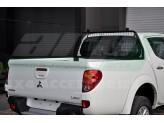 Защитная дуга с защитой заднего стекла в кузов пикапа, цвет черный
