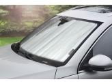 Солнцезащитный экран на лобовое стекло Jeep Grand Cherokee***, цвет серебристый/черный
