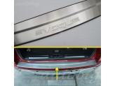 Хромированная накладка для Range Rover Evogue на задний бампер с логотипом,полир. нерж. сталь