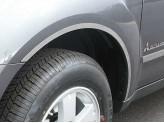 Комплект накладок на колесные арки из 4 частей,полир. нерж. сталь