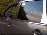Хромированные накладки на молдинги стекол Mitsubishi Outlander из 4 ч.
