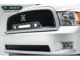 Решетка радиатора с подсветкой,цвет черный,сталь - All Black 2009-2012 г.