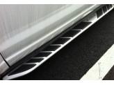 """Пороги для Range Rover Evogue логотипом """"EVOGUE"""""""