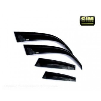 Дефлекторы боковых окон SIM для Ssang Yong Actyon Sport, темные (акрил)