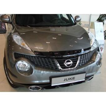 Дефлектор капота SIM для Nissan JUKE, темный (акрил)