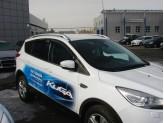 Дефлекторы боковых окон SIM для Ford Kuga, темные (акрил), изображение 2