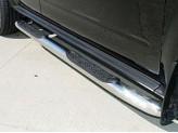 """Подножки трубообразные """"EUROTEC"""" с площадкой 76 мм, полир. нерж. сталь"""