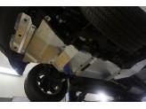 Алюминиевая защита днища (для  V-2.8TD, АКПП из 5-ти частей,толщина 4 мм),лючка для слива масла нет, изображение 4