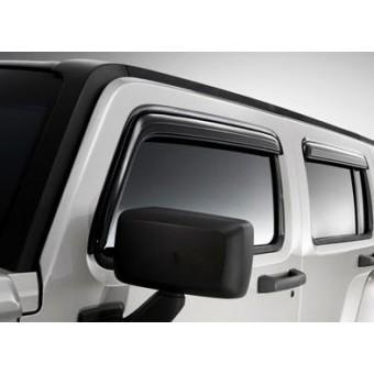 Дефлекторы боковых окон GM для Hummer H3 (4 ч.,темные)