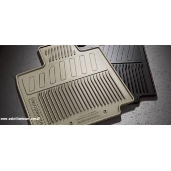 """Коврики в салон для Nissan Pathfinder, резиновые, цвет черный, с логотипом """"Pathfinder"""" (фото может не соответствовать оригинальной форме конфигурации пола)"""