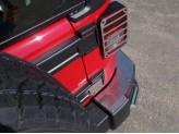 Хромированные накладки для Jeep Wrangler на задний бампер,для 3D/5D V-3,6 с 2014 г.-