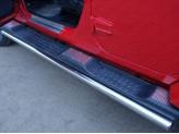 Хромированные накладки для Jeep Wrangler на пластиковые пороги, для 3D/5D V-3,6 с 2014 г.-
