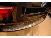 Накладка для BMW X5 на задний бампер с силиконом, нерж. сталь