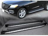 Пороги для Mercedes-Benz M-class W166, OE-style