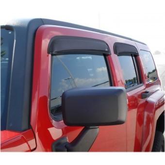 Дефлекторы боковых окон AVS для Hummer H3 (Original, темно-дымчатые 4 ч. , ABS пластик,устанавливаются на 3М скотч)