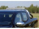 Защита кузова и заднего стекла 76 мм со светодиодной фарой, полированная нержавеющая сталь