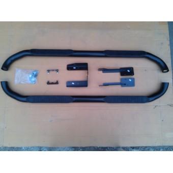 """Подножки """"EUROTECH"""" 76 мм, цвет черный, нерж. сталь"""