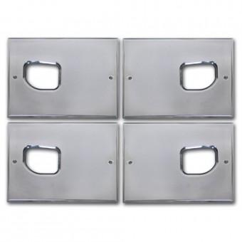 Хромированные накладки под дверные ручки салона (авиационный алюминий с тройным хромовым покрытием)