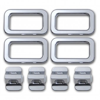 Хромированные накладки для Hummer H2 на двери из 8 частей (авиационный алюминий с тройным хромовым покрытием)
