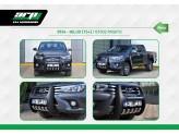 """Передняя защита """"PASIFIC"""" из стального корпуса покрытая полиуретаном с логотипом """"HILUX"""""""