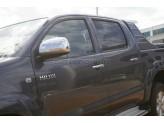 Хромированные накладки на зеркала Toyota HiLux (нерж. сталь, 2006-2012 г.