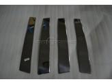 Хромированные накладки на дверные стойки Nissan Qashqai