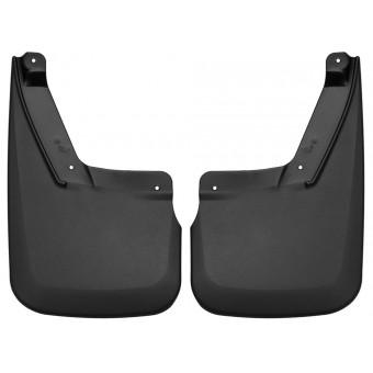 Комплект передних брызговиков, цвет черный (подходят к порогам с электроприводом)
