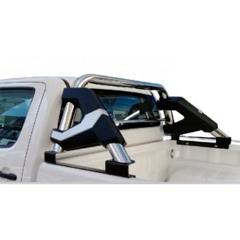 Дуга безопасности кузова пикапа KK-07 (овальная дуга 70 x 85 мм, устанавливается со сверлением на болты)