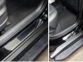Хромированные накладки для Hyundai TUCSON на пороги, полир. нерж. сталь