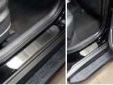 Хромированные накладки для Hyundai TUCSON на пороги,полир. нерж. сталь