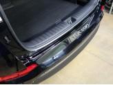 Хромированная накладка для Hyundai TUCSON на задний бампер,полир. нерж. сталь