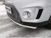 Решетка переднего бампера верхняя (лист), полир. нерж. сталь (2015-), изображение 3