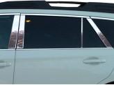 Хромированные накладки на дверные стойки Subaru Outback