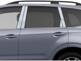 Хромированные накладки на дверные стойки Subaru Forester 2014-2018 г.