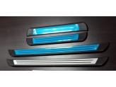 Комплект накладок на внутренние пороги 4 ч.(нерж. сталь, пластик ABS, устанавливаются без сверления на двусторонний скотч) для мод. с 2011 г.
