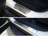 Хромированные накладки для Toyota RAV4 на пороги для мод. с 2015 г.