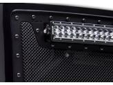 Решетка радиатора с LED фонарями, цвет черный, сталь