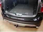 Хромированная накладка для Ford Explorer на задний бампер, полир. нер. сталь