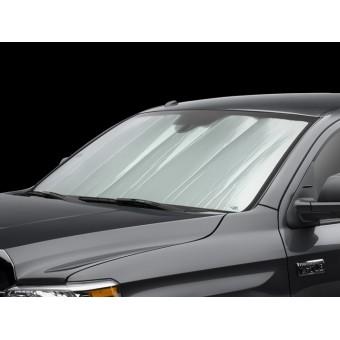 Солнцезащитный экран на лобовое стекло Lexus LX-570, цвет серебристый/черный
