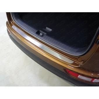 Хромированная накладка для Kia Sportage на задний бампер (лист шлифованный)