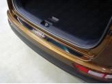 Накладка на задний бампер (лист зеркальный надпись Sportage), полир. нерж. сталь